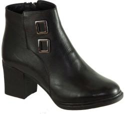 Riccardo Colli - Riccardo Colli 8864 Hakiki Deri Siyah Bayan Bot Ayakkabı (36-40)