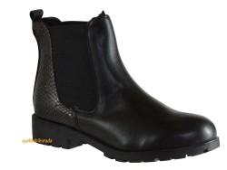 Riccardo Colli - Riccardo Colli Shamdan Rahat Düz Siyah Bayan Bot Ayakkabı