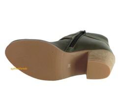 Riccardo Colli Spenco Rahat Kısa Haki Topuklu Bayan Bot Ayakkabı - Thumbnail