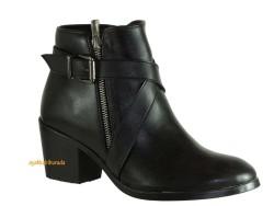 Riccardo Colli - Riccardo Colli Spenco Rahat Kısa Siyah Topuklu Bayan Bot Ayakkabı