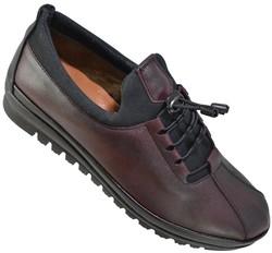 ISPARTALILAR - Selena 33 Ortopedik Deri Siyah Kadın Günlük Ayakkabı (36-40)
