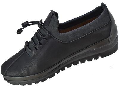 Selena 33 Ortopedik Deri Siyah Kadın Günlük Ayakkabı (36-40)
