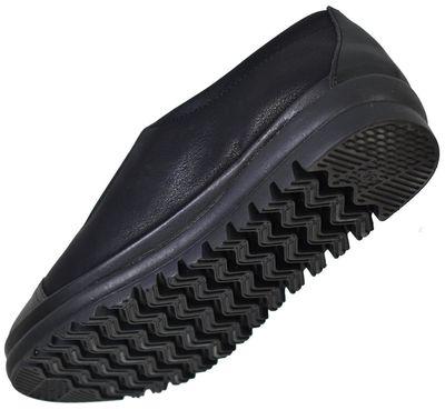 Selena 37 Ortopedik Deri Siyah Kadın Günlük Ayakkabı (36-40)