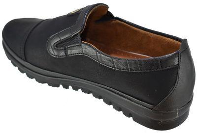 Selena 38 Ortopedik Deri Siyah Kadın Günlük Ayakkabı (36-40)