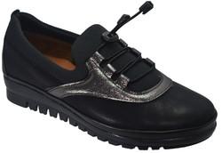 ISPARTALILAR - Selena 42 Ortopedik Deri Siyah Kadın Günlük Ayakkabı (36-40)