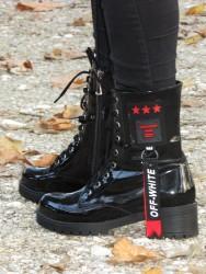 ISPARTALILAR - Su Perisi 15 Ortopedi Siyah rugan Bayan Bot Ayakkabı (36-40)