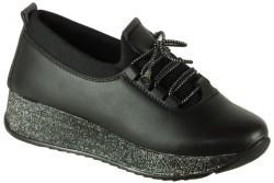 Vetta - Ulusoy 109 ortopedik Siyah Kız Çocuk Spor Ayakkabı (31-35)