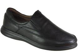 ISPARTALILAR - Ulusoy 98 Rahat Siyah Hakiki Deri Kışlık Erkek Ayakkabı
