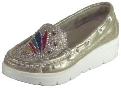 ISPARTALILAR - Su perisi Dolgu Taban Gümüş Kız Çocuk Babet Ayakkabı (31-36)