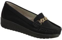 ISPARTALILAR - Ulusoy Ortopedi Siyah Dolgu Taban Bayan Günlük Ayakkabı (36-40)