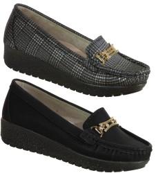 ISPARTALILAR - Ulusoy Rahat Siyah Dolgu Taban Bayan Günlük Ayakkabı (36-40)