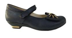 ISPARTALILAR - Vetta Kız Çocuk Mini Topuklu Cırtlı Mevsimlik Okul Ayakkabı