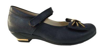 Vetta Kız Çocuk Mini Topuklu Cırtlı Mevsimlik Okul Ayakkabı