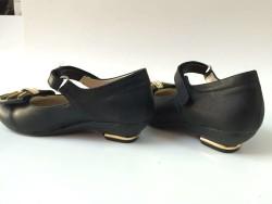 Vetta Kız Çocuk Mini Topuklu Cırtlı Mevsimlik Okul Ayakkabı - Thumbnail