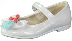 Vetta - Vetta Ortopedi Beyaz Düz Kız Çocuk Babet Ayakkabı (26-30)