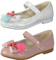 Vetta - Vetta Ortopedi Beyaz VE Pudra Kız Çocuk Babet Ayakkabı (26-30)