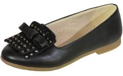 Vetta - Vetta Ortopedi Rahat Siyah Çocuk Kız Babet Ayakkabı (26-36)