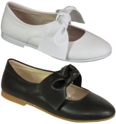 Vetta - Vetta Ortopedi Siyah Beyaz Kız Çocuk Babet Ayakkabı (31-36)