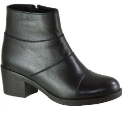 Riccardo Colli - Voog 7030 Ortopedi Topuklu Hakiki Deri Siyah Bayan Bot Ayakkabı