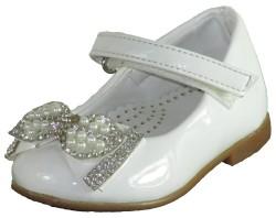ISPARTALILAR - Welch 1122 Beyaz Çocuk Kız Bebe Babet Ayakkabı (18-22)