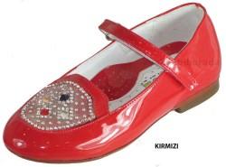 ISPARTALILAR - Welch Ortopedi Kırmızı Taşlı Kız Çocuk Babet Ayakkabı (26-36)