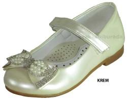 ISPARTALILAR - Welch Ortopedi Krem Kız Çocuk Babet Ayakkabı (26-36)