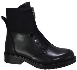 ISPARTALILAR - Witty 103 Ortopedi Rahat Siyah Bayan Bot Ayakkabı (36-40)