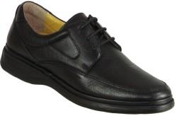 ISPARTALILAR - Ispartalılar Ortopedi Deri Siyah Bağcıklı Erkek Klasik Ayakkabı (40-44)