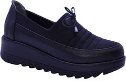 ISPARTALILAR - Witty 188 Ortopedi Rahat Siyah Günlük Kadın Ayakkabı