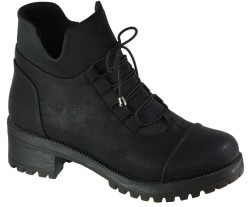 ISPARTALILAR - Witty 25 Ortopedi Rahat Siyah Günlük Bayan Bot Ayakkabı (36-40)