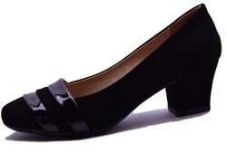 Witty - Witty 633 Rahat Siyah Topuklu Kadın Ayakkabı