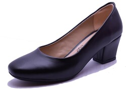 Witty - Witty 634 Rahat Siyah Topuklu Kadın Ayakkabı