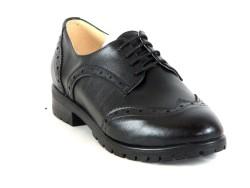 ISPARTALILAR - KAMPANYALI Witty 72 Siyah Deri Hazır Kaymaz Taban Bayan Günlük Ayakkabı