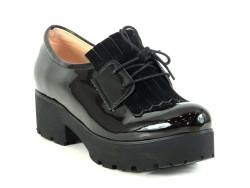 ISPARTALILAR - Witty 72 Siyah Deri Hazır Kaymaz Taban Bayan Günlük Ayakkabı