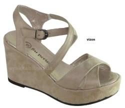 ISPARTALILAR - Witty 89 Rahat Vizon Dolgu Taban Bayan Topuklu Ayakkabı (36-40)