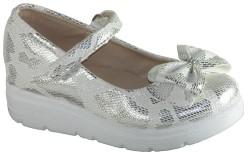 Yükseliş Bebe - Yükseliş Ortopedi Beyaz Siyah Kız Çocuk Babet Ayakkabı (22-36)