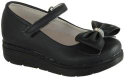 Yükseliş Bebe - Yükseliş Ortopedi Siyah Ve Beyaz Kız Çocuk Babet Ayakkabı (26-36)