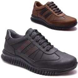 Ayakkabiburada - Ayakkabiburada 115 Ortopedi Kauçuk Taban Deri Kışlık Erkek Ayakkabı (40-44)