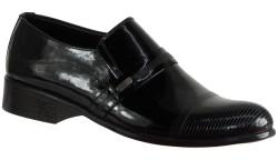 ISPARTALILAR - Aksulu 19 Hakiki Deri Siyah Erkek Klasik Ayakkabı (40-44)