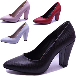 Ayakkabiburada - Ayakkabiburada 0111 Abiye Düğün Kadın Topuklu Ayakkabı