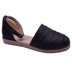 Ayakkabiburada - Ayakkabiburada 032 Ortopedi Önü Kapalı Günlük Siyah Kadın Sandalet