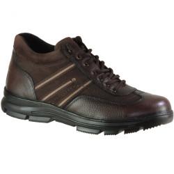 Ayakkabiburada - Ayakkabiburada 1775 Hakiki Deri Siyah Erkek Kışlık Bot Ayakkabı (40-44)