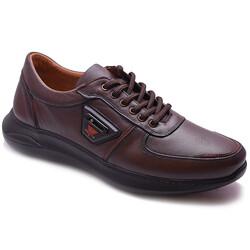 Ayakkabiburada - Ayakkabiburada 2021-310 Ortopedi Hakiki Deri Erkek Ayakkabı