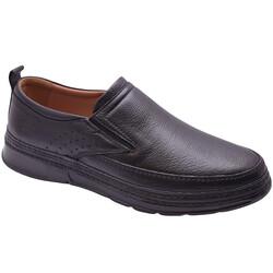 Ayakkabiburada - Ayakkabiburada 2021-312 Ortopedi Hakiki Deri Erkek Ayakkabı