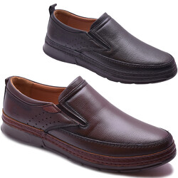 Ayakkabiburada - Ayakkabiburada 2021-312 Tam Ortopedi Hakiki Deri Erkek Ayakkabı