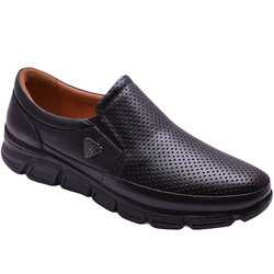 Ayakkabiburada - Ayakkabiburada 2021-314 Ortopedi Hakiki Deri Erkek Ayakkabı