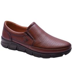 Ayakkabiburada - Ayakkabiburada 2021-314 Tam Ortopedi Hakiki Deri Erkek Ayakkabı