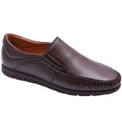 Ayakkabiburada - Ayakkabiburada 2021-315 Ortopedi Hakiki Deri Erkek Ayakkabı