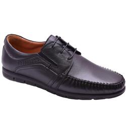 Ayakkabiburada - Ayakkabiburada 2021-316 Ortopedi Hakiki Deri Erkek Ayakkabı