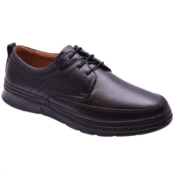 Ayakkabiburada - Ayakkabiburada 2021-317 Ortopedi Hakiki Deri Erkek Ayakkabı